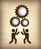 Teamwork silhouette Royalty Free Stock Photo
