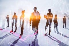 Teamwork-, Sitzungs- und Finanzkonzept lizenzfreie stockfotografie