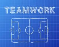 Teamwork Soccer Pitch Blueprint