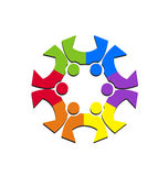 Teamwork social couples logo Royalty Free Stock Image