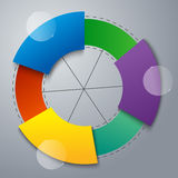 Teamwork social infographic, diagram, presentation Royalty Free Stock Image