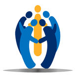 Teamwork social people logo Royalty Free Stock Image