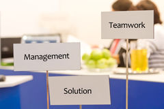 Teamwork and solution Stock Photo