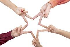 Teamwork star gesture Stock Photo