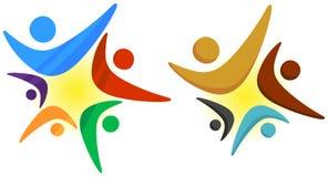 Teamwork star logo Stock Images