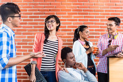 Teamwork in start-up coworking space Royalty Free Stock Images