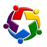 Teamwork-Sterngruppe von fünf Leuten Lizenzfreies Stockfoto