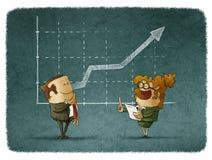 Teamwork stock report Stock Photos