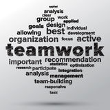 Teamwork and strategy concept with tag cloud. Stock Photography