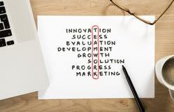 Teamwork strategy plan Stock Photography