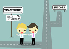 Teamwork strategy for success Stock Image