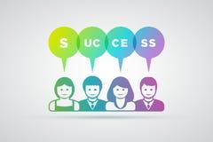 Teamwork success concept Stock Photo