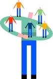 Teamwork-Support lizenzfreie abbildung