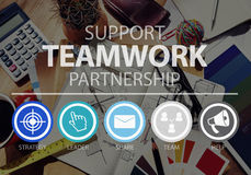 Teamwork Support Partnership Collaboration Unity Concept Royalty Free Stock Photos