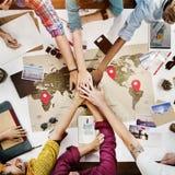 Teamwork Support Travel Jouney Planning Concept Stock Images