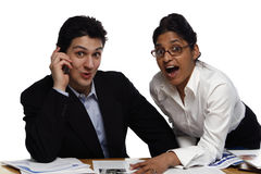 Teamwork - Surprised Stock Photo