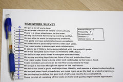 Teamwork survey Royalty Free Stock Photography