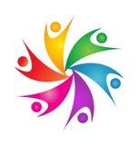 Teamwork swoosh people logo Stock Photo