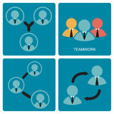 Teamwork symbol Stock Photo