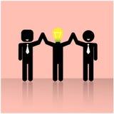 Teamwork symbol,brainstorming sign. Teamwork concepts , 3 people symbols ,businessman, illustration Royalty Free Stock Photos
