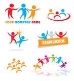 Teamwork-Symbole Lizenzfreie Stockbilder