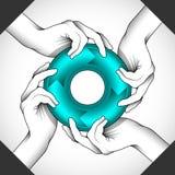 Teamwork-Symbolillustration Lizenzfreies Stockfoto