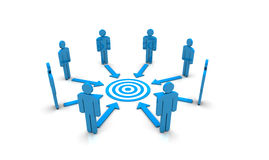 Teamwork Target Stock Photography