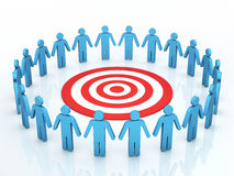 Teamwork target concept. 3d render Teamwork target concept (close-up Royalty Free Stock Image