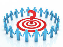 Teamwork target discussions  problems Royalty Free Stock Photos