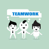 Teamwork team collaboration cartoon concept illustration Stock Photos