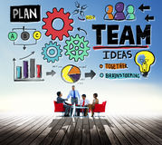 Teamwork Team Collaboration Connection Togetherness Unity Concep Royalty Free Stock Image