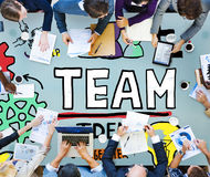 Teamwork Team Collaboration Connection Togetherness Unity Concep Royalty Free Stock Images