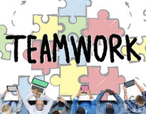 Teamwork Team Collaboration Connection Togetherness Unity Concep Royalty Free Stock Photos