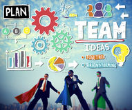 Teamwork Team Collaboration Connection Togetherness Unity Concep Stock Image