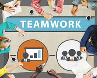 Teamwork Team Collaboration Connection Togetherness Unity Concep Royalty Free Stock Photography