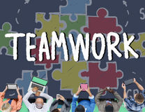 Teamwork Team Collaboration Connection Togetherness Unity Concep Royalty Free Stock Photo