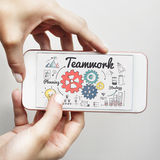 Teamwork Team Collaboration Connection Togetherness Unity Concep. T Royalty Free Stock Photos