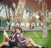 Teamwork Team Collaboration Connection Unity Concept Royalty Free Stock Photography