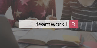 Teamwork Team Collaboration Cooperation Concept Stock Image