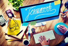 Teamwork Team Collaboration Support Member Unity Concept Royalty Free Stock Image