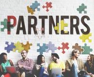 Teamwork Team Concept för partnerAlliance samarbete royaltyfri bild