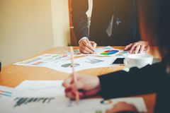 Teamwork-Team Doing Business als Team Corporate-Sitzungen Einheit Lizenzfreies Stockfoto