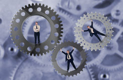 Teamwork and team effort concept Stock Photography