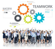 Teamwork Team Group Gear Partnership Cooperation Concept Royalty Free Stock Photos