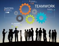 Teamwork Team Group Gear Partnership Cooperation Concept Stock Photo