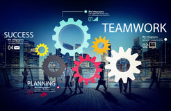 Teamwork Team Group Gear Partnership Cooperation Concept Stock Image