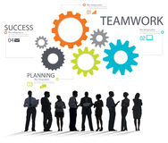 Teamwork-Team Group Gear Partnership Cooperations-Konzept Lizenzfreie Stockfotos