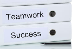 With teamwork and team to success business concept Stock Photos