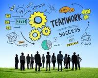 Teamwork-Team Together Collaboration Business Aspirations-Ziele C Stockbild