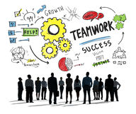 Teamwork Team Together Collaboration Business Concept Stock Image